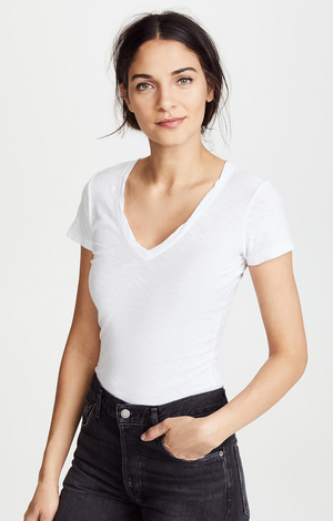 Contrast Tee With Reverse Binding