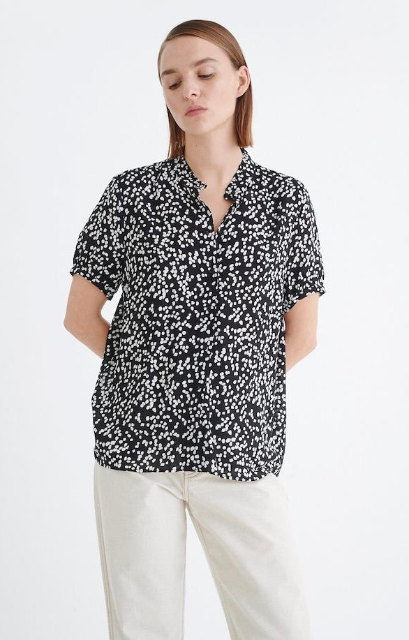 Fia Shirt - Black Windy Dots