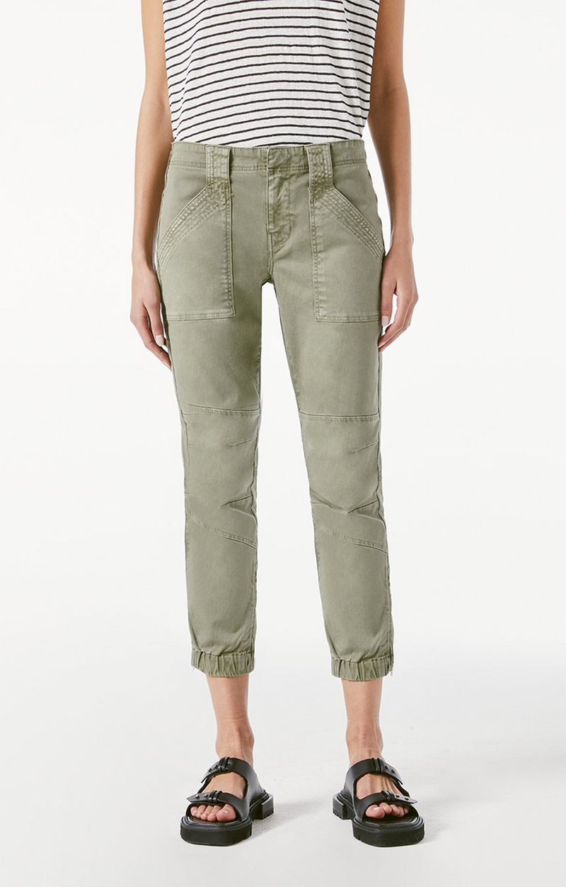 Trapunto Moto Pants - Washed Aloe