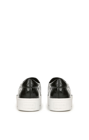 Warren Black Croc Sneaker