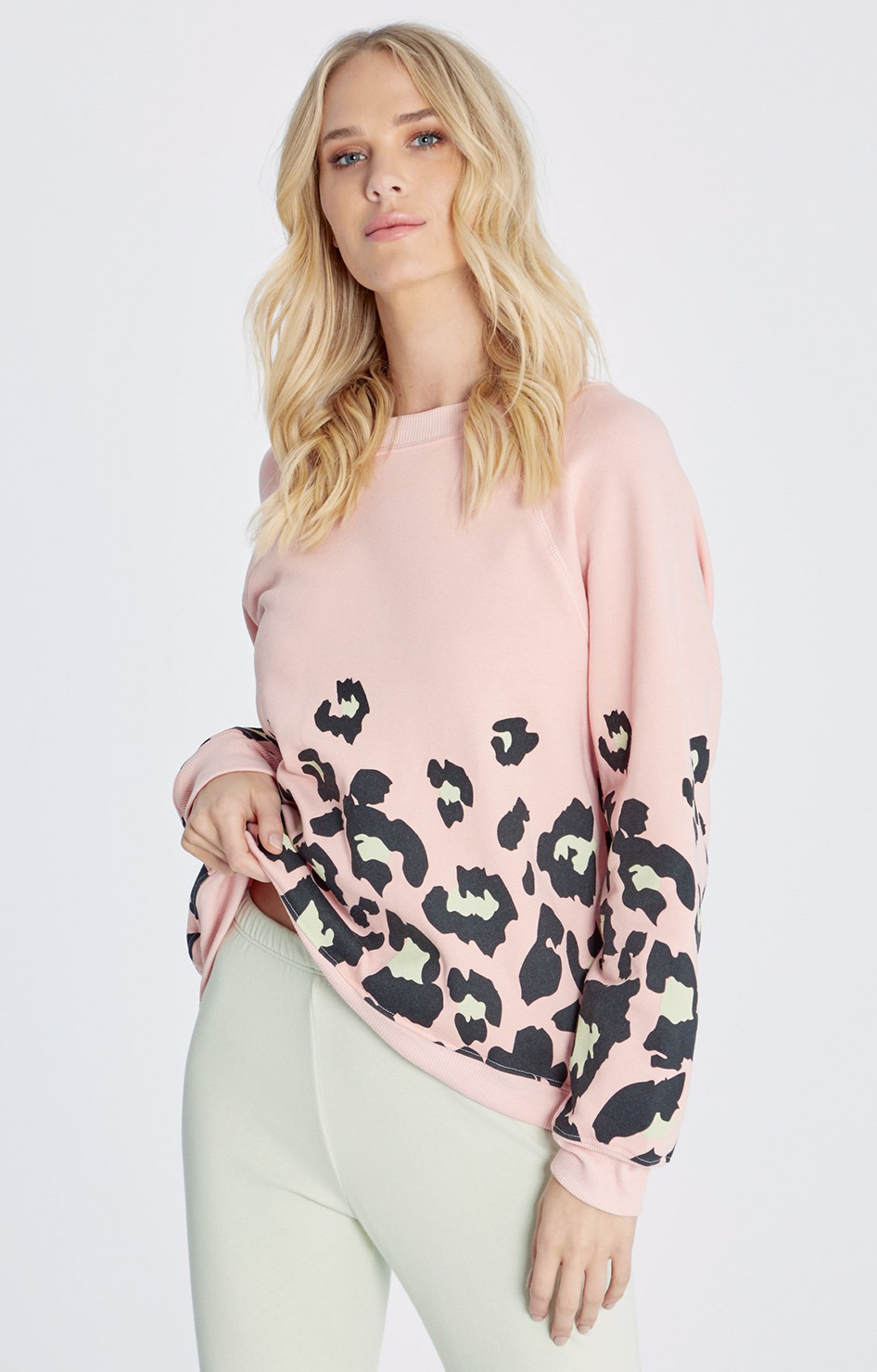 Spotted Sommers Sweatshirt - Dove Pink