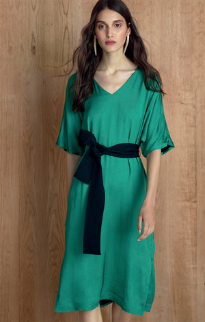 3/4 Sleeve Dress - Iris Setlakwe
