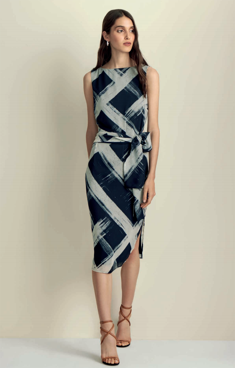 iris setlakwe navy check dress