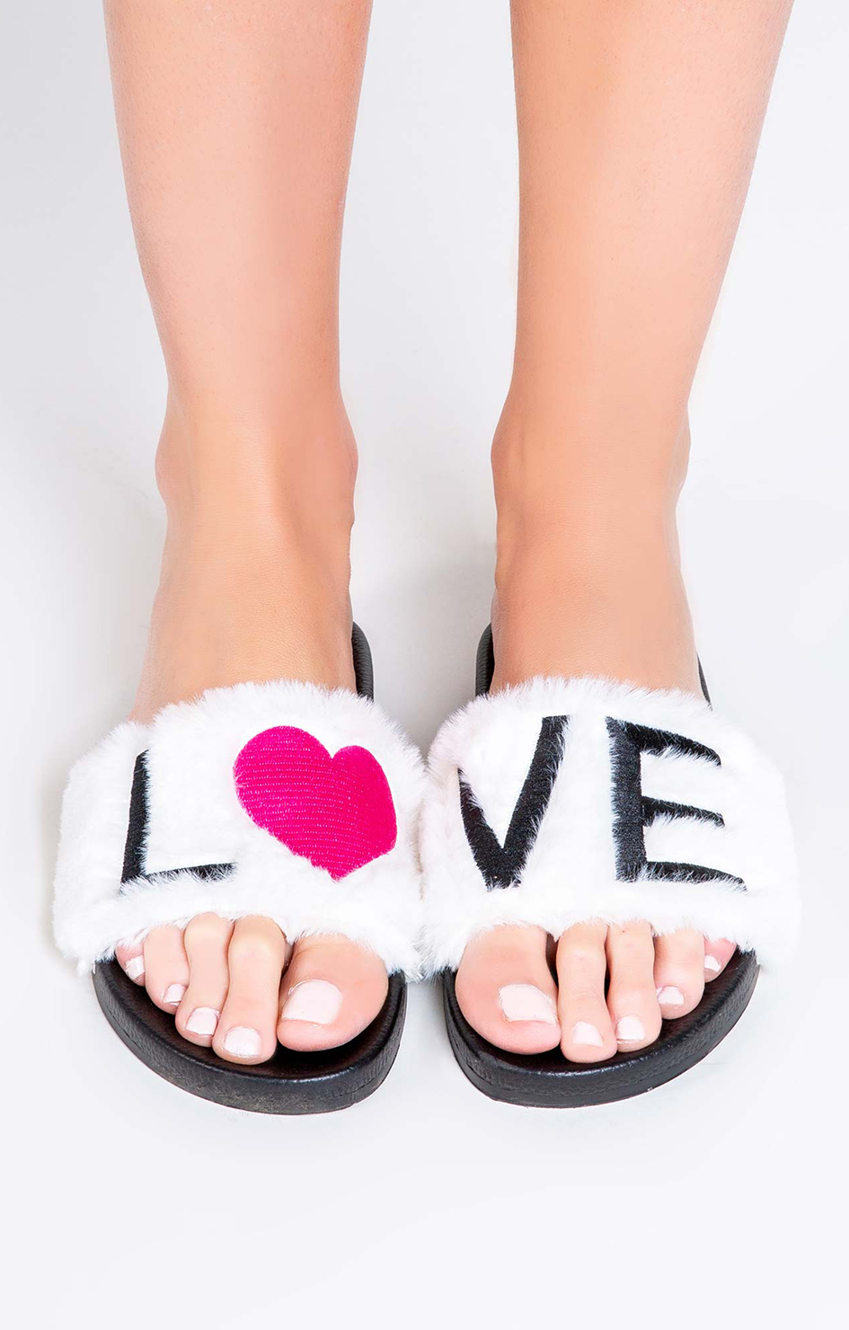 Fur Love Slides - Ivory