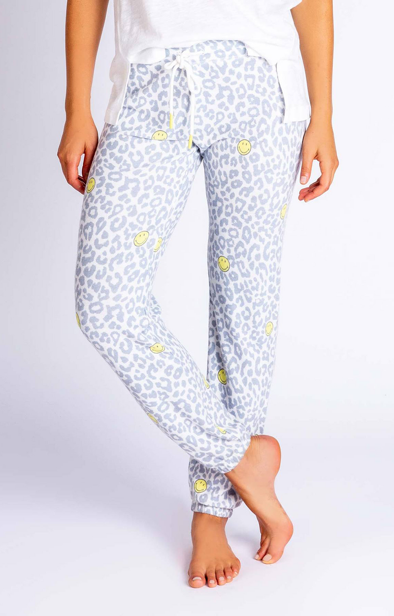 Smiley Print Banded Pant