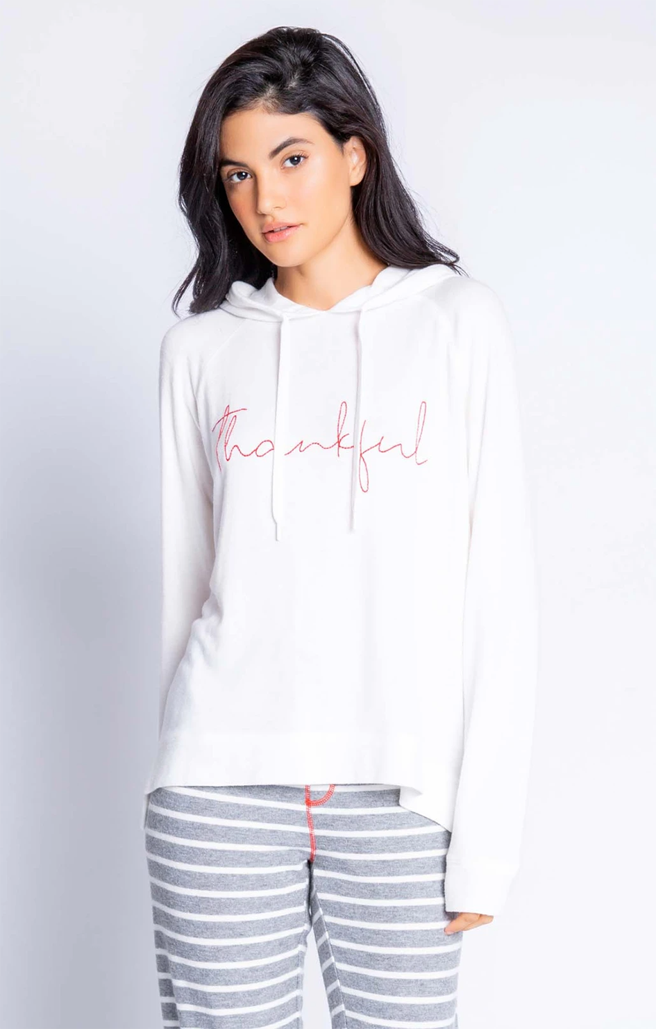 Joyful Spirits Thankful Hoodie - Ivory