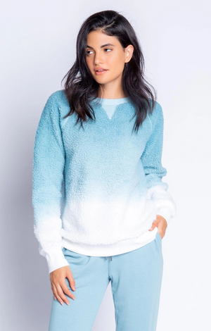 Mountain Escape Dip Dye L/S Top - Ice Blue