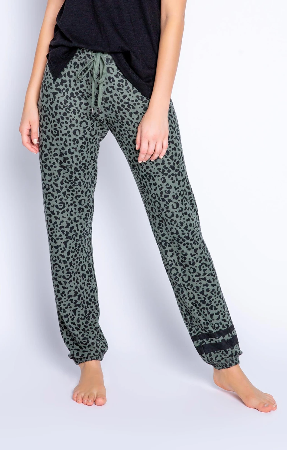 Running Wild Leopard Pant - Olive