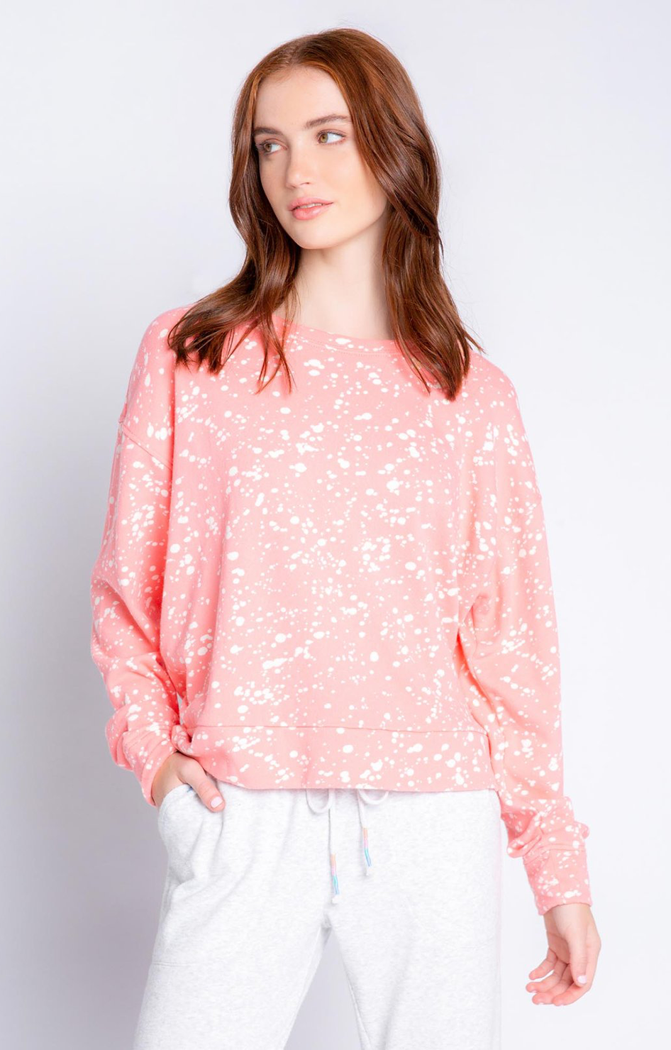 Flick Of A Brush Dreamer Top - Coral