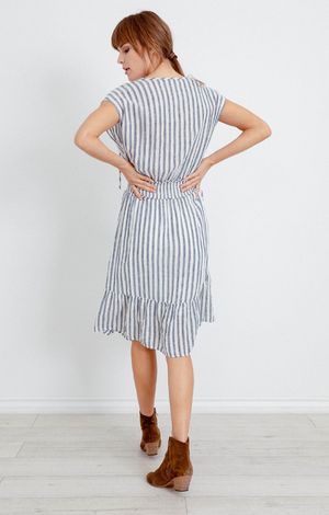 Ashlyn Dress In Rio Stripe