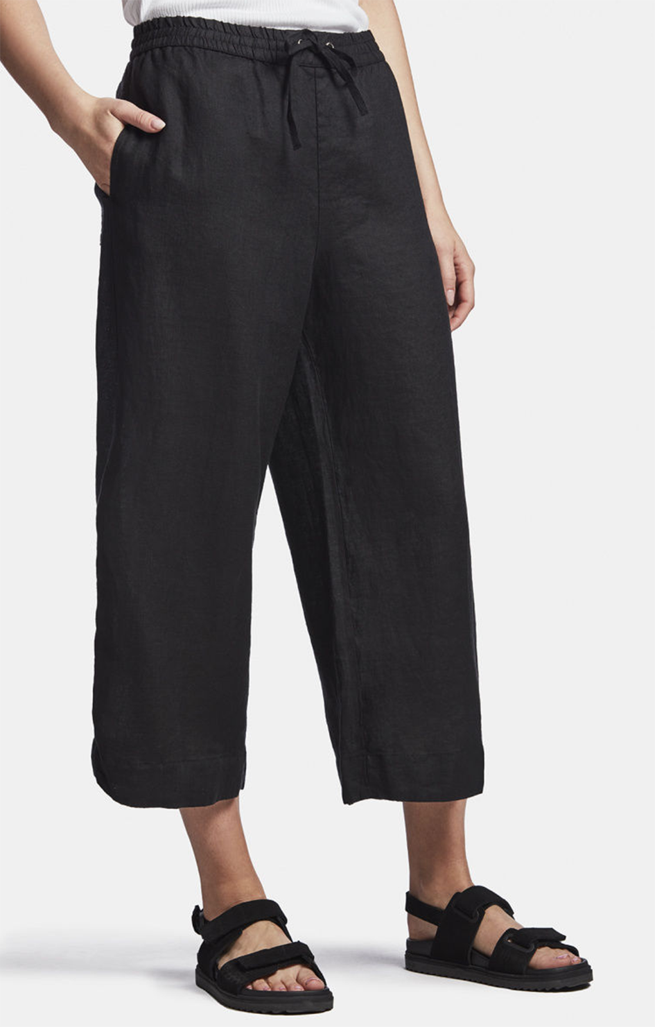 Linen Cropped Pant