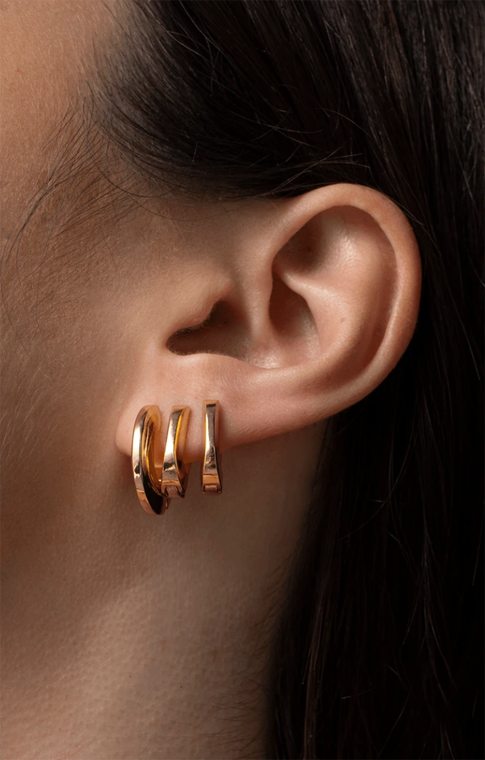Teenie Toni Huggie Earrings - Gold