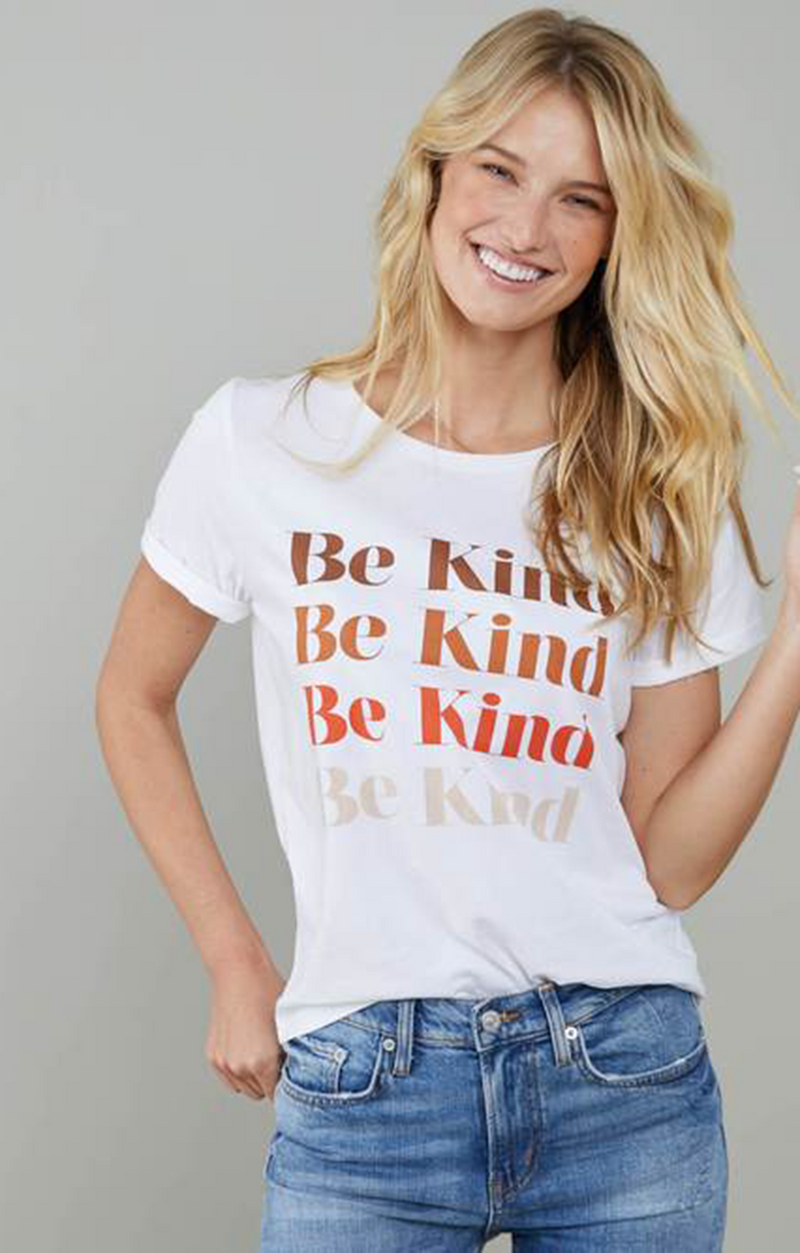 South Parade Lola Be Kind Tee White