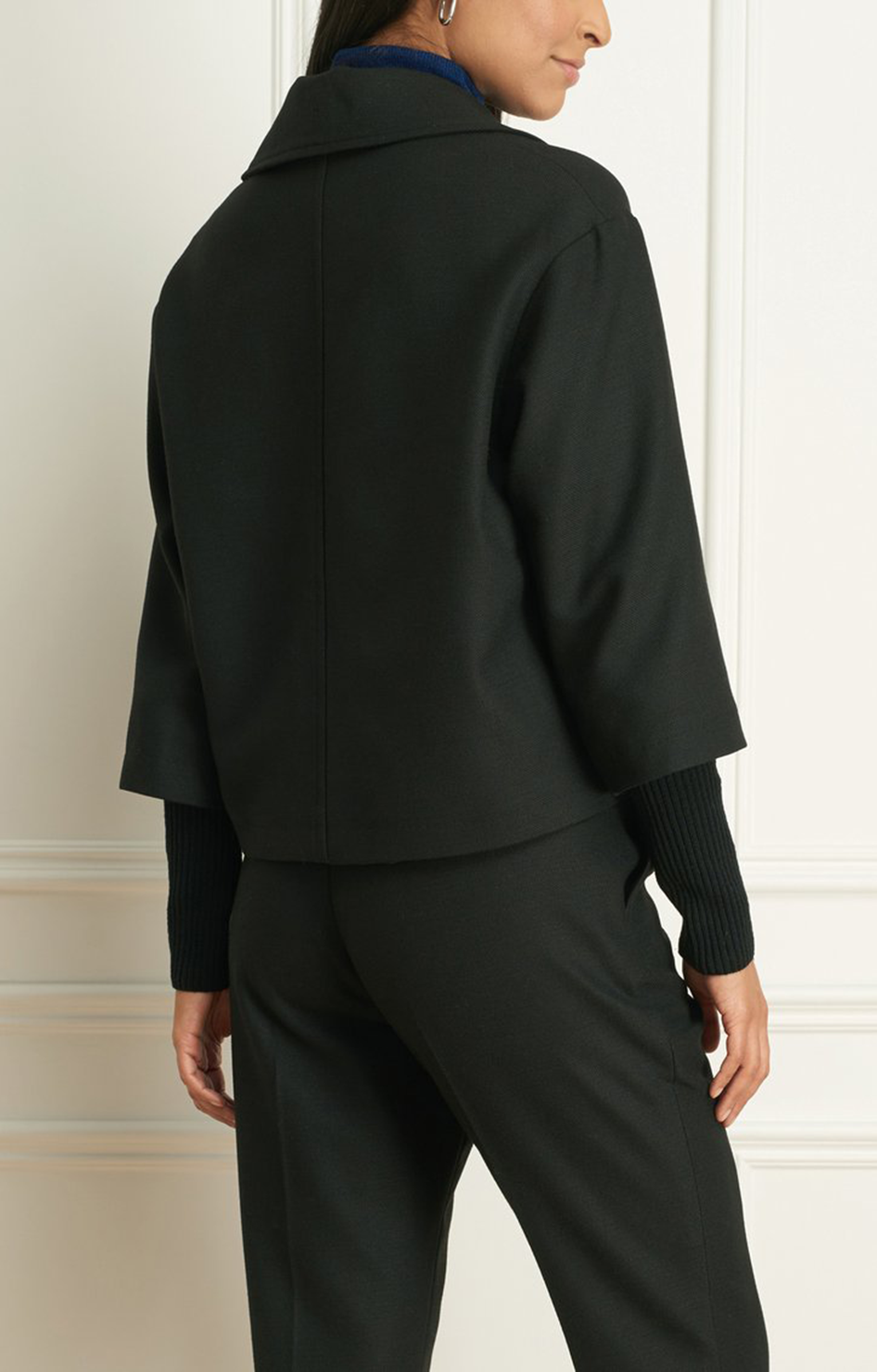 Iris Setlakwe 2 Tone Stretch Short Jacket Black
