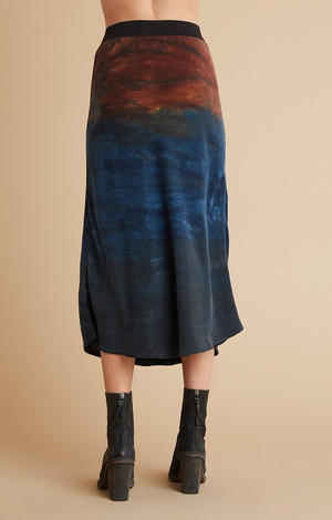 Bias Skirt - Autumn Sky