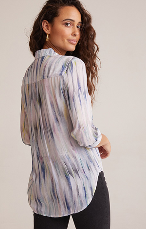 Hipster Shirt In Feather Stripe