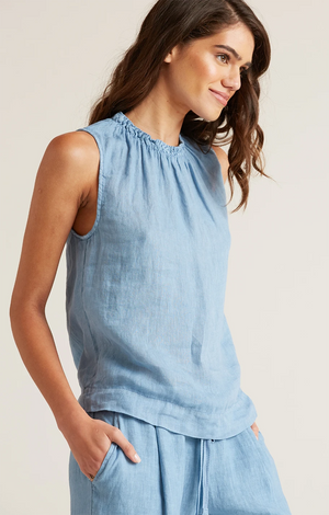 Sleeveless Smocked Neck Top