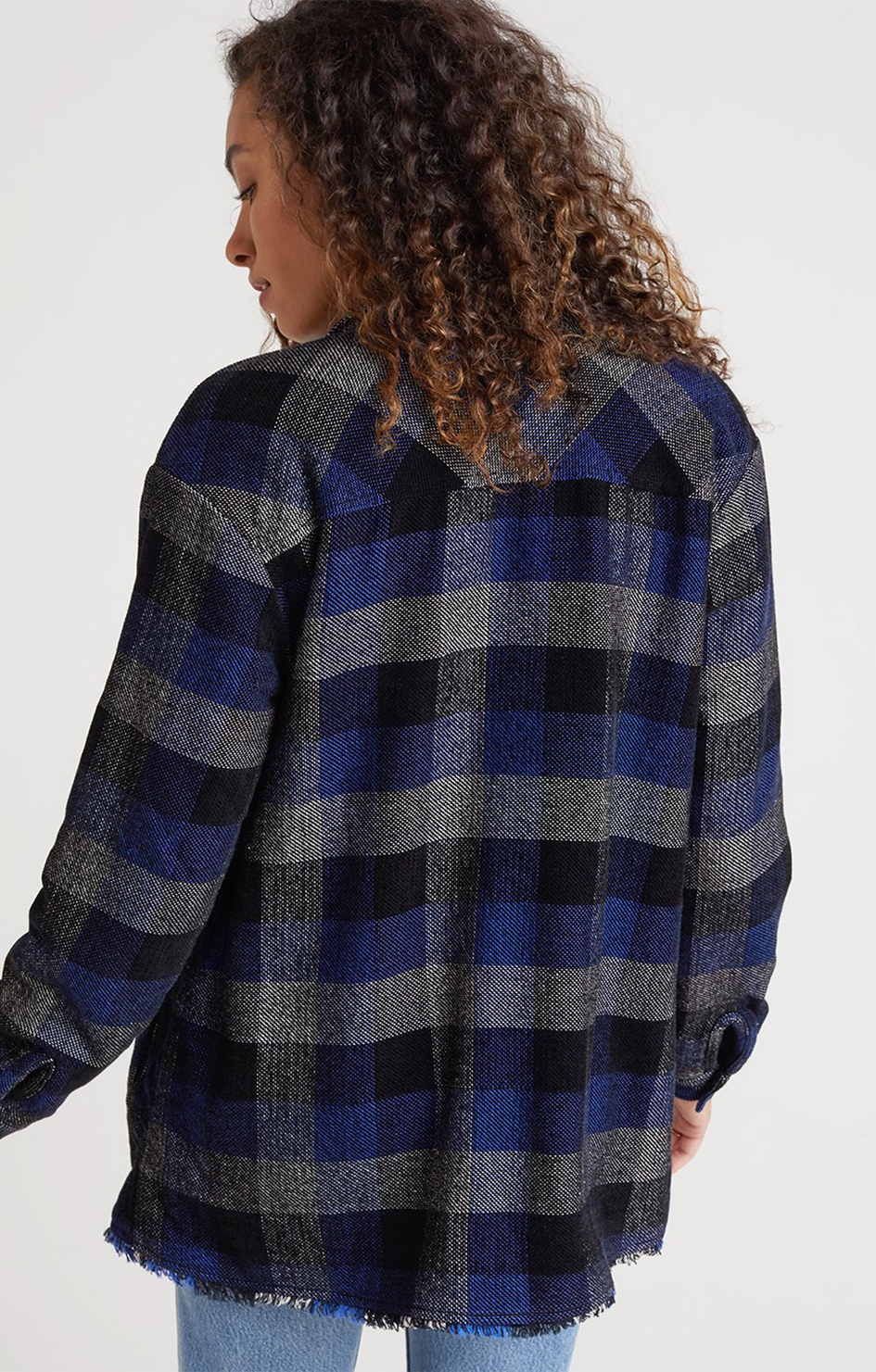 Lined Shacket - Black Check