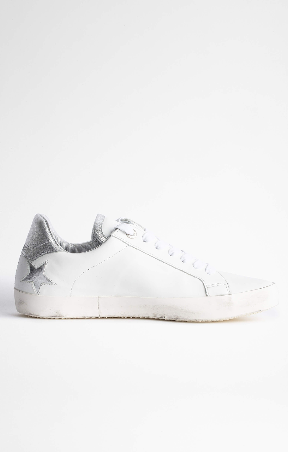 Used Stars Smooth Calfskin Sneaker - White