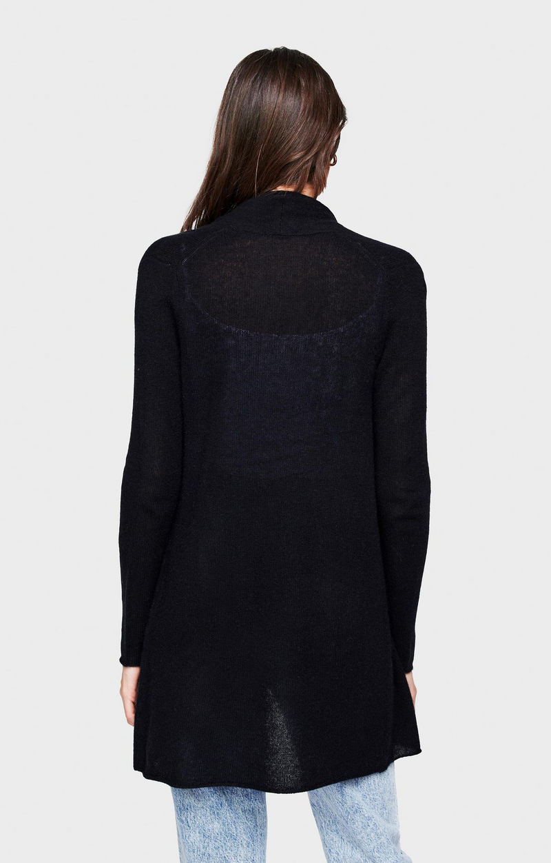 Trapeze Cardigan In Black