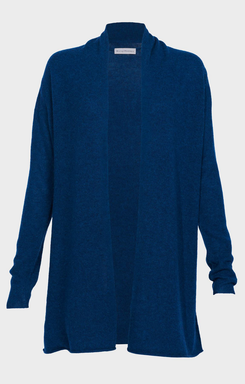 Trapeze Cardigan In Deep Teal