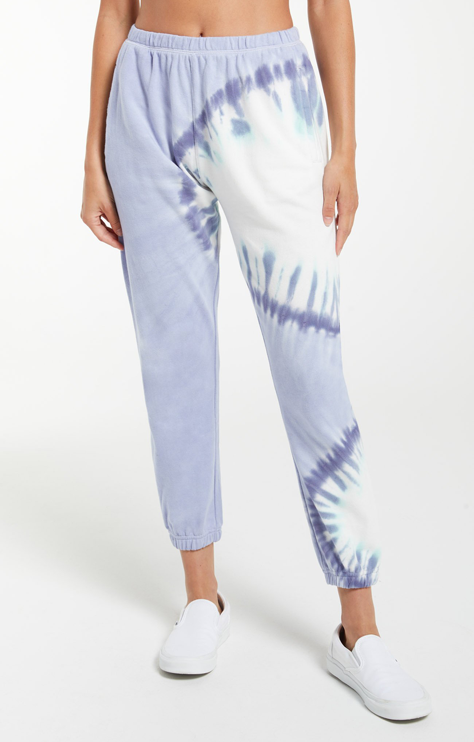 Sunburst Tie Dye Jogger - Ice Blue