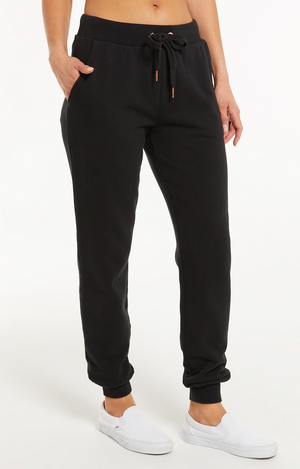 Z Supply Ambre Speckled Pant Black