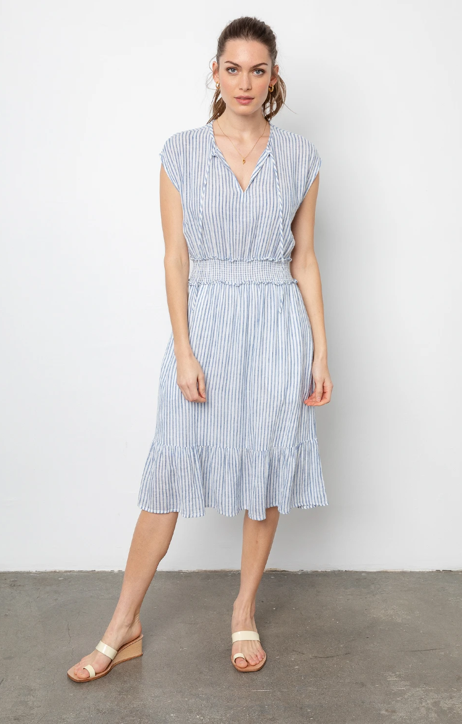Ashlyn Dress In Fremont Stripe - Rails Clothing
