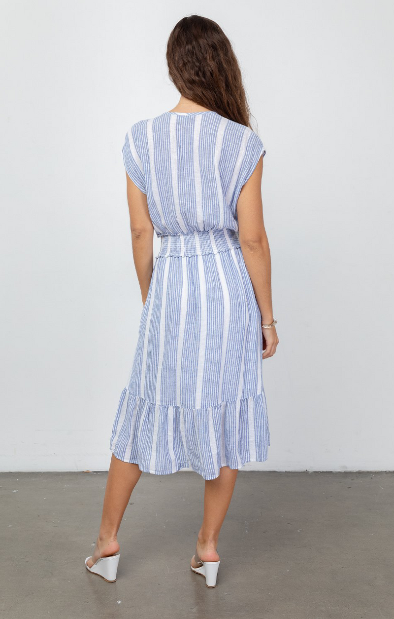 Ashlyn Midi Dress In Levanzo Stripe