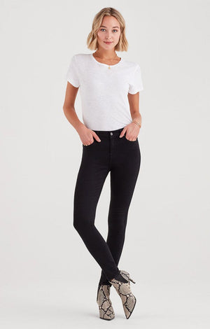 7 For All Mankind - b(air) Denim High Waist Skinny - Black