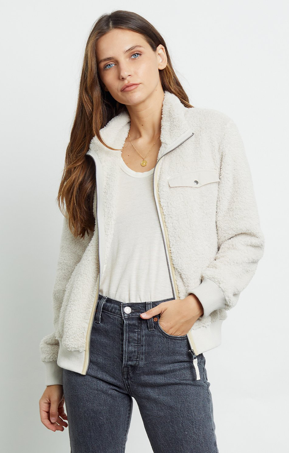 Austin Teddy Jacket - Cream