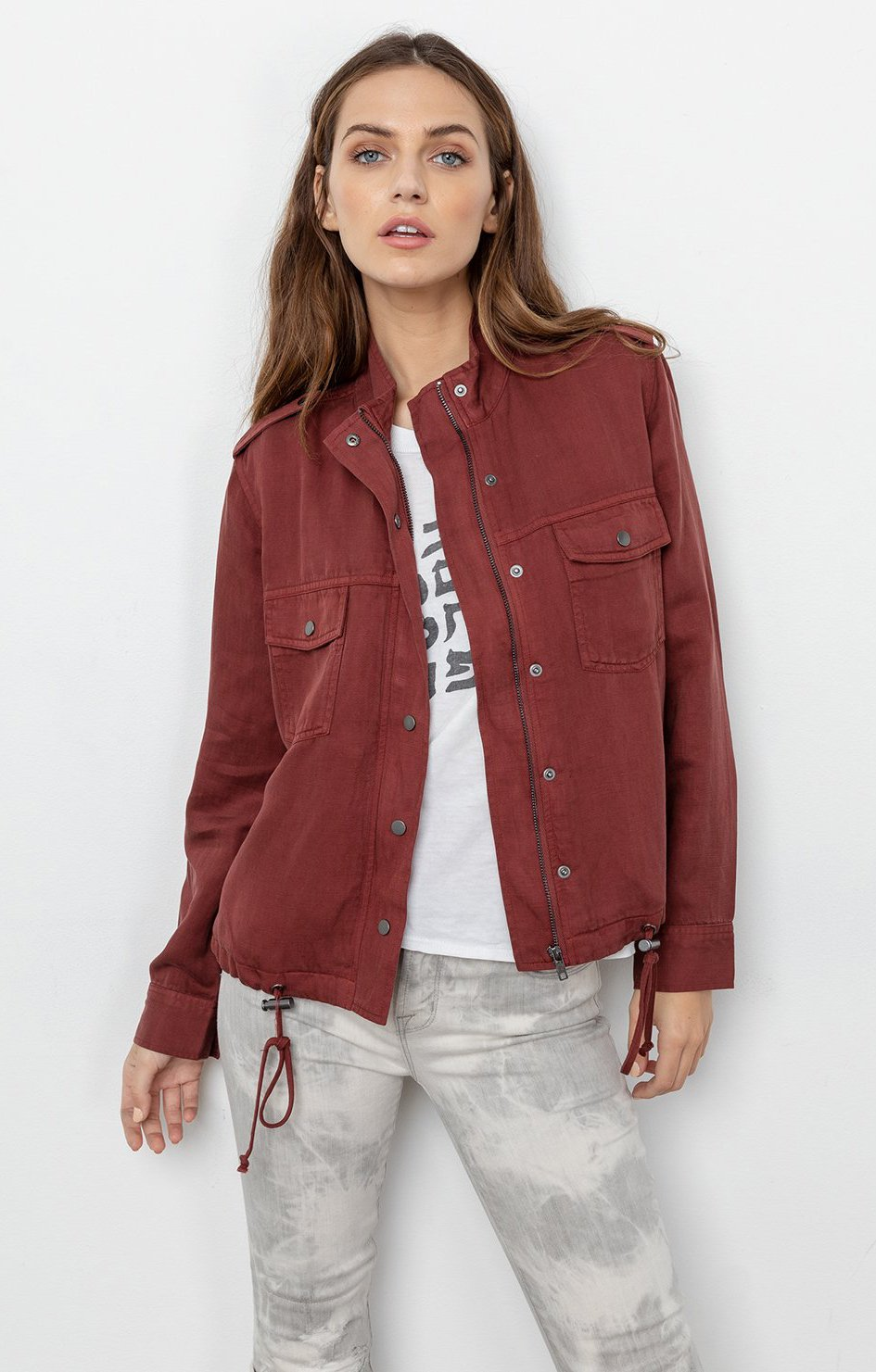 rails clothing collins jacket sangria