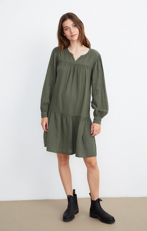 Mildred Dress In Olive