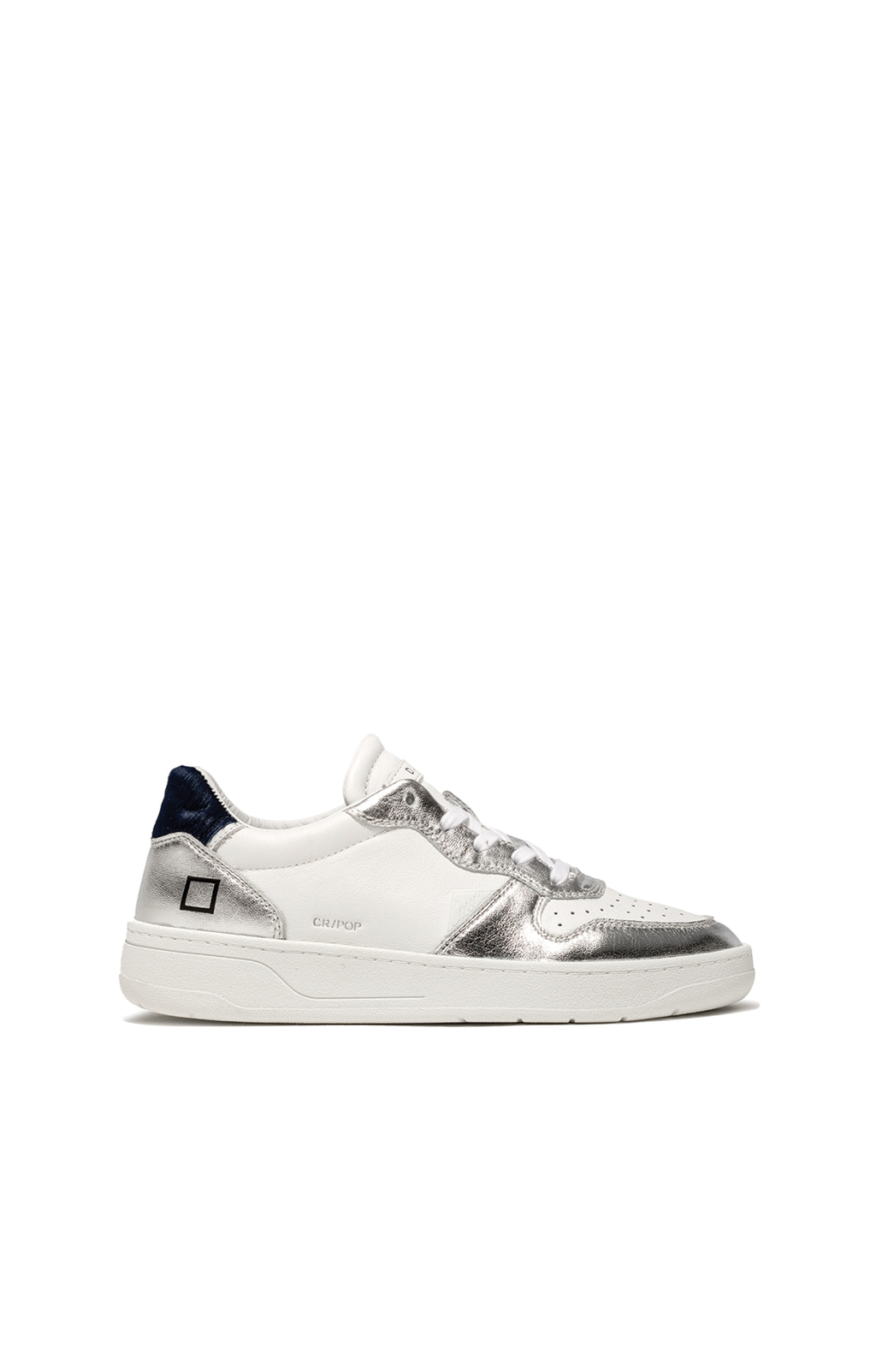 Court Pop Sneaker - Laminated Silver