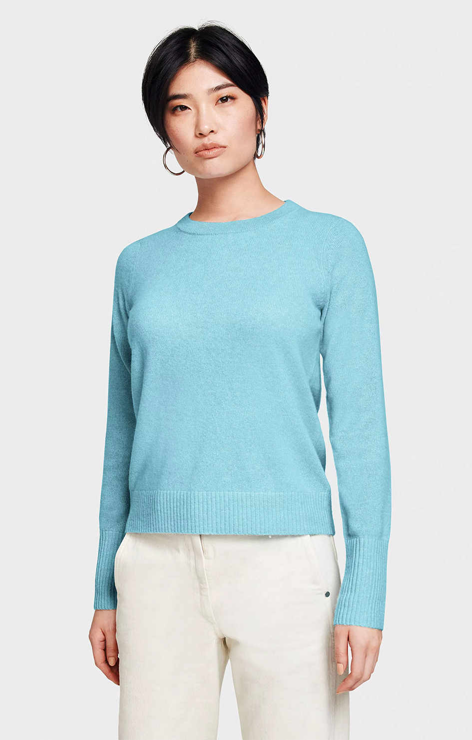 Cashmere Essential Sweatshirt - Blue Bird Heather