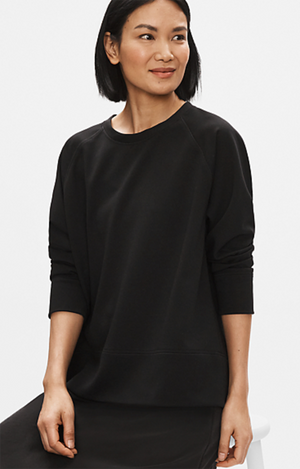 Flex Tencel Ponte Round Neck Top - Eileen Fisher