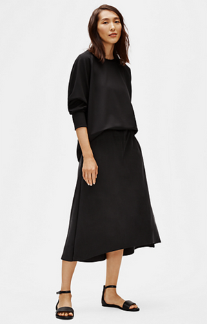 Sandwashed Tencel A-Line Skirt - Eileen Fisher
