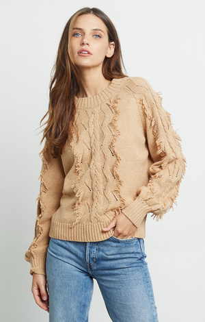 Francis Sweater - Heather Camel