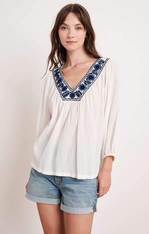 Zaylee V Neck Top