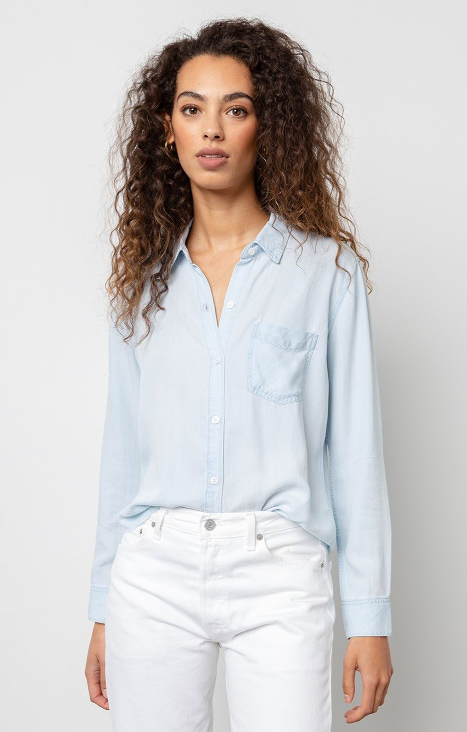 Ingrid Raw Button Down