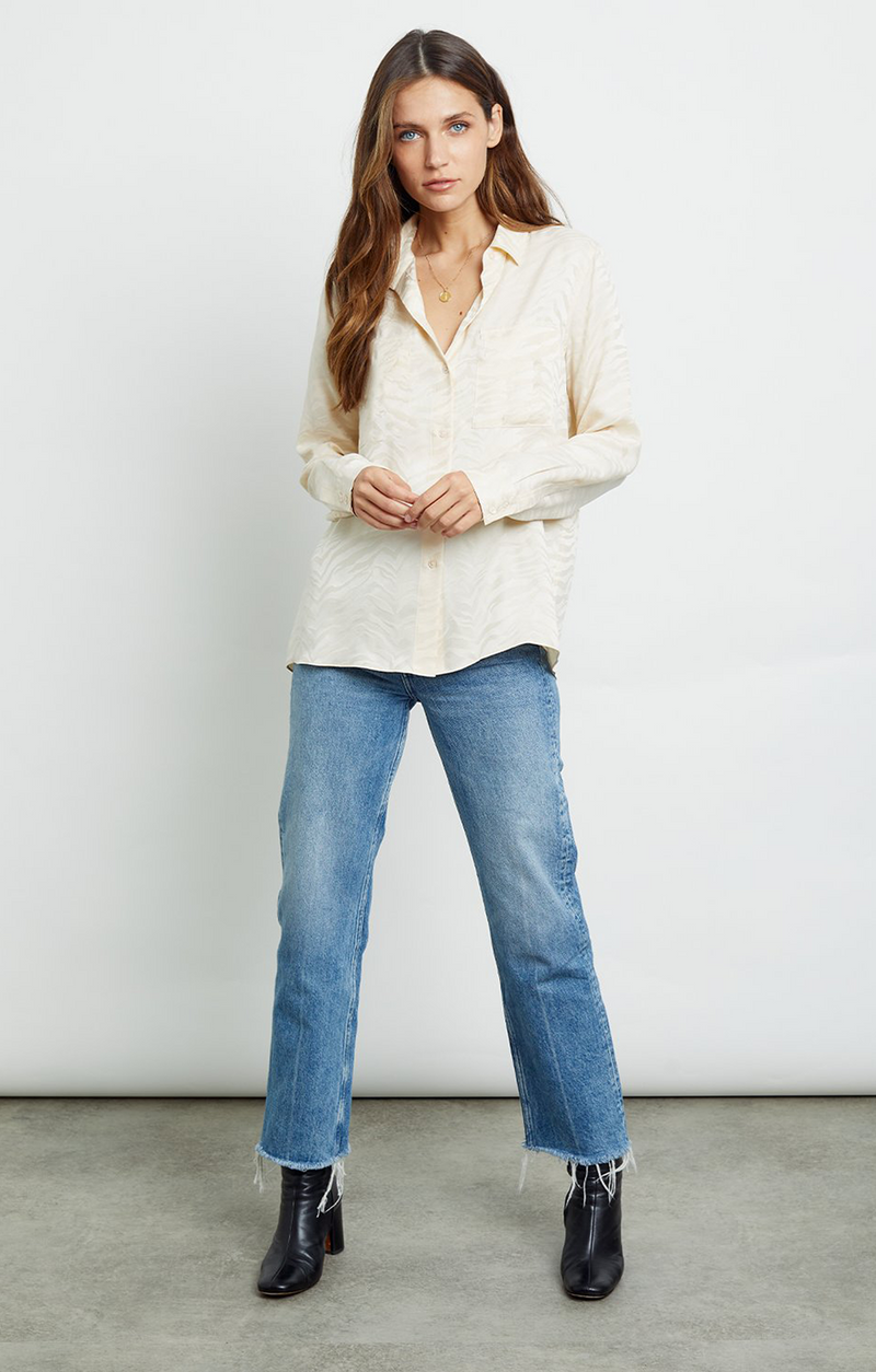Rails Kate Shirt White Tiger