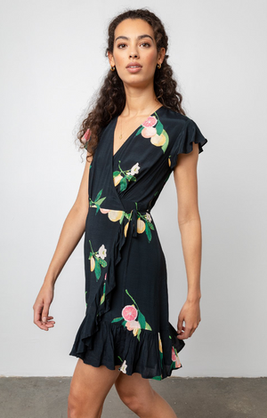 Koreen Dress Black Grapefruit - Rails Clothing