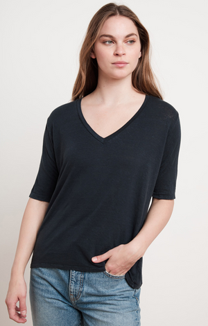 Stefani Linen Knit Top