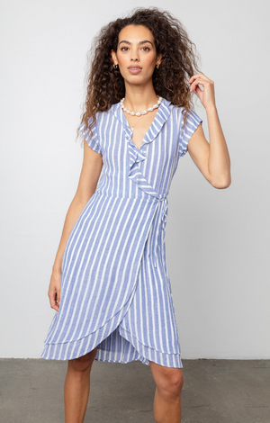 Louisa Dress In Juneau Stripe