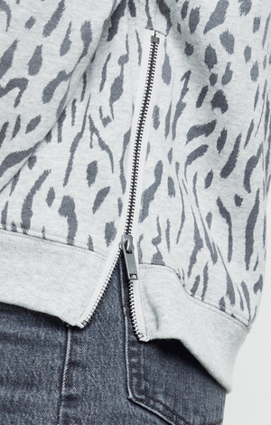 Marlo Sweater - Grey Abstract Cheetah
