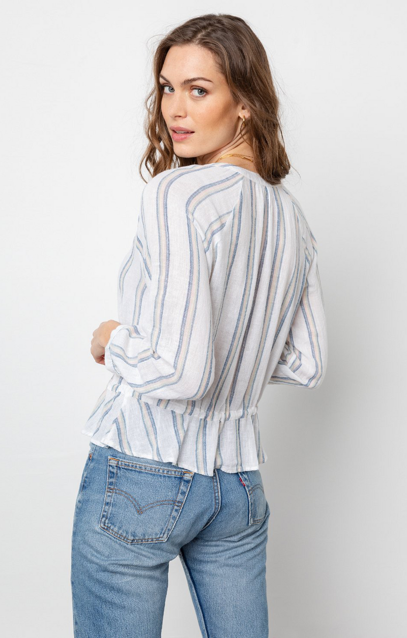 Marti Top In Ryland Stripe