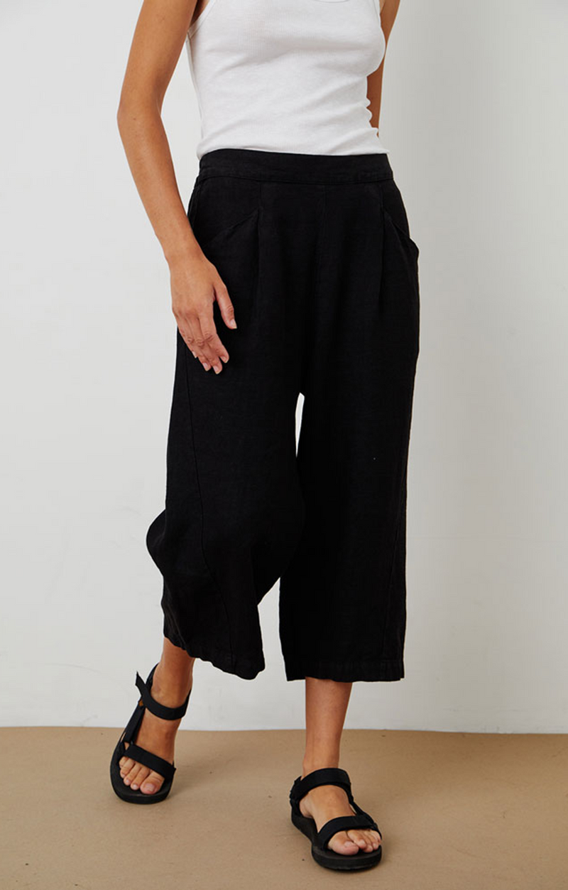 Velvet By Graham & Spencer Zaida Linen Pant - Black