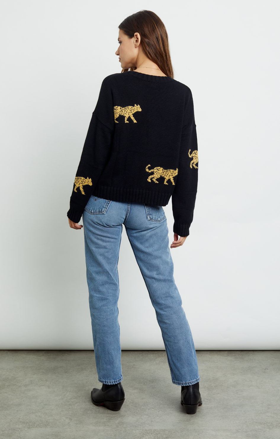 Perci Sweater - Black Jungle Cat