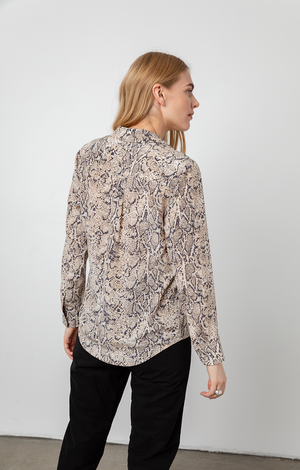 Rebel Shirt - Ivory Snakeskin