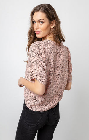 Thea Top In Rose Spotted